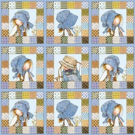 Quiltstof. Katoen. Holly Hobbie 24074. Merk: SPX Fabrics
