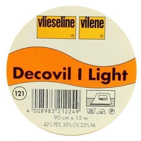 Vlieseline Decovil 1 Light Breedte: 90 cm. Opstrijkbare tussenvoering